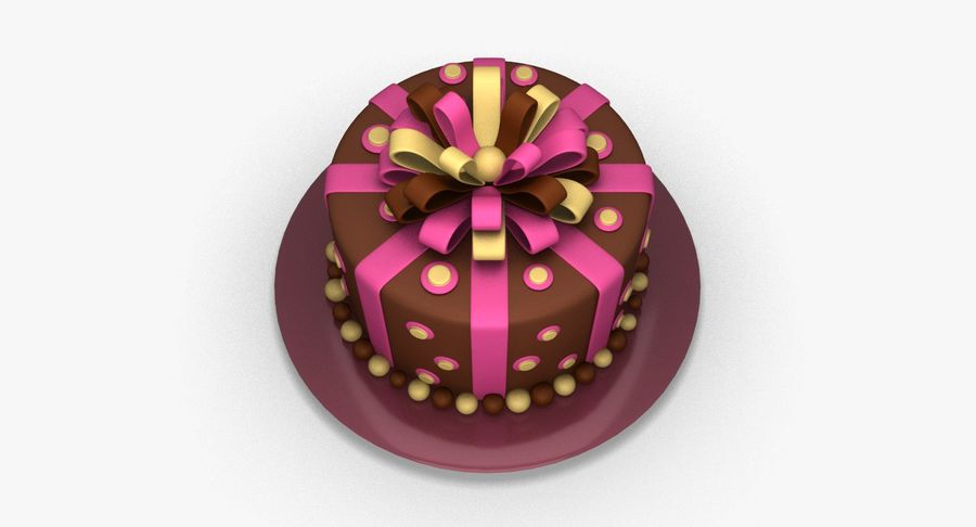 Cake royalty-free 3d model - Preview no. 5