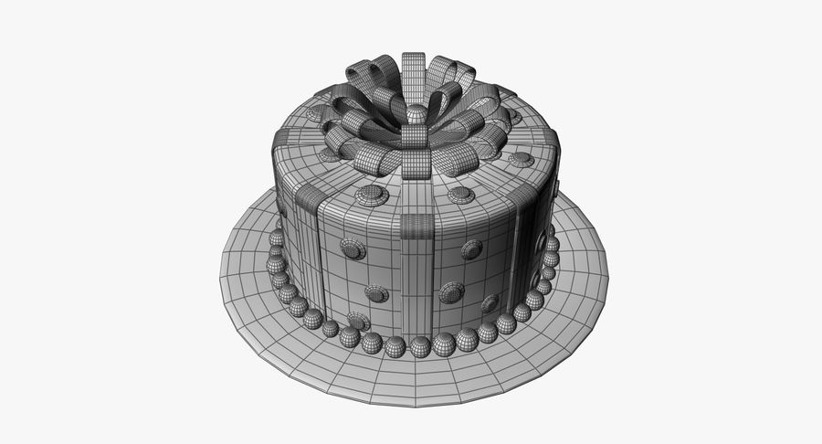 Cake royalty-free 3d model - Preview no. 10