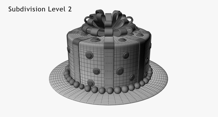 Cake royalty-free 3d model - Preview no. 14
