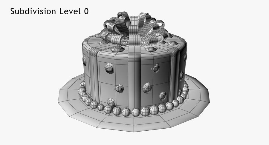 Cake royalty-free 3d model - Preview no. 12