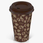 Coffee Cup Empty Takeout Design 1 3d model