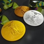Rio2016 olympic medal 3d model