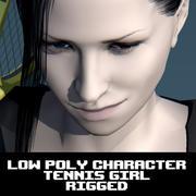 Tennis Girl Character 3d model