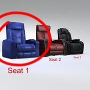 Seat Man Cave 1 3d model
