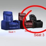 Seat Cave man 2 SVART 3d model