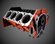 Чеви железный блок v8 3d model