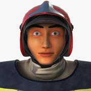 Fire Man 3d model