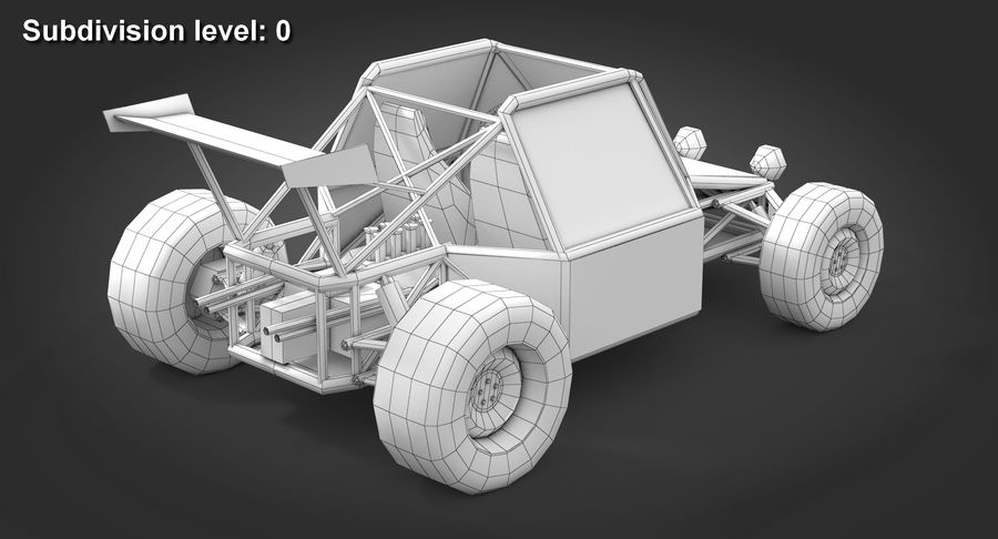 Desert Buggy royalty-free 3d model - Preview no. 11