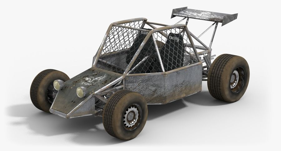 Desert Buggy royalty-free 3d model - Preview no. 2