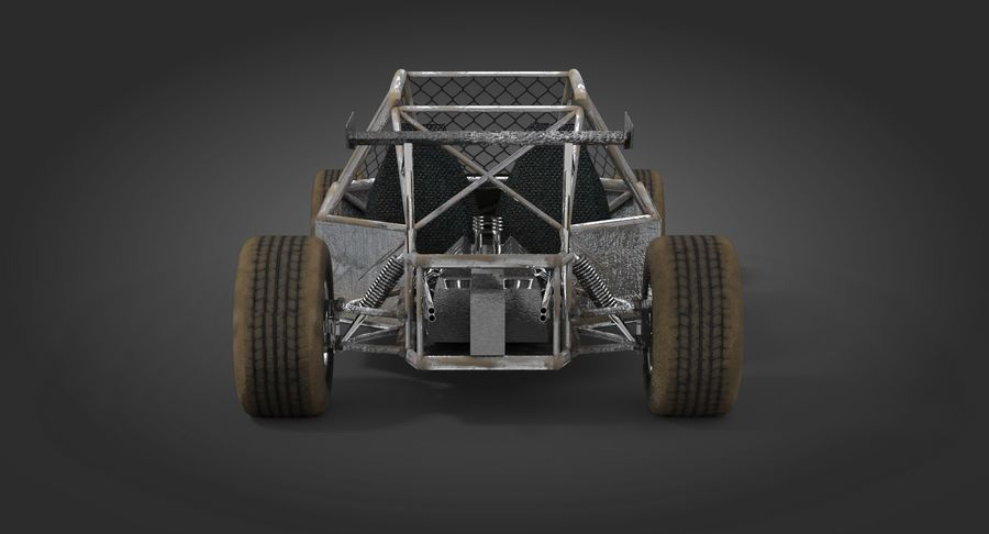 Desert Buggy royalty-free 3d model - Preview no. 7