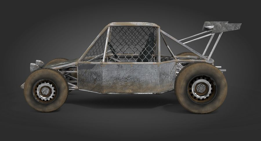Desert Buggy royalty-free 3d model - Preview no. 5