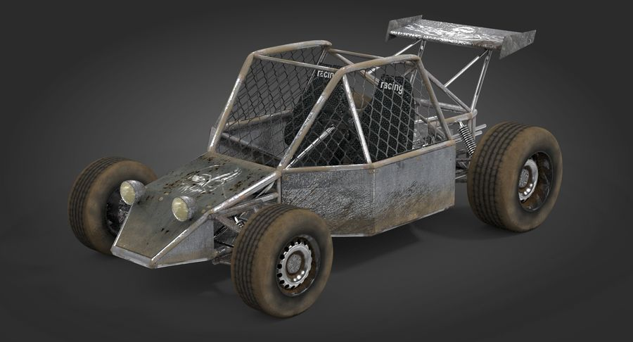 Desert Buggy royalty-free 3d model - Preview no. 3