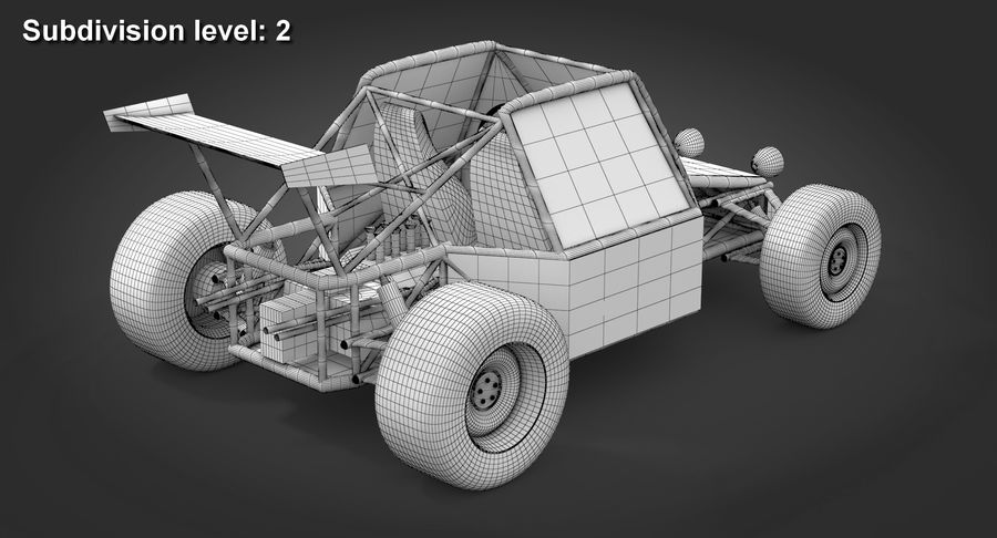 Desert Buggy royalty-free 3d model - Preview no. 12