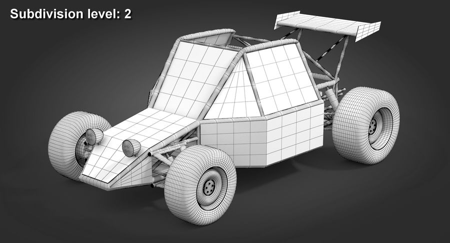Desert Buggy royalty-free 3d model - Preview no. 10