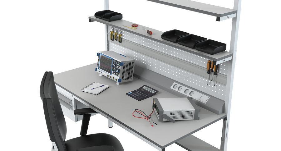 Electronics Workbench royalty-free 3d model - Preview no. 7