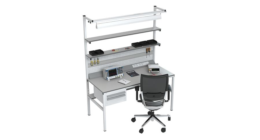 Electronics Workbench royalty-free 3d model - Preview no. 4