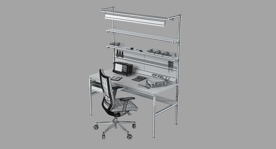Electronics Workbench royalty-free 3d model - Preview no. 9