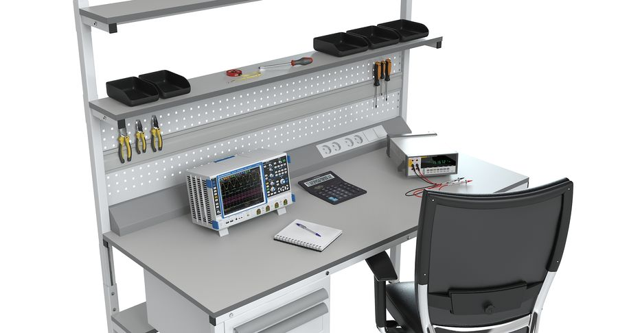 Electronics Workbench royalty-free 3d model - Preview no. 8