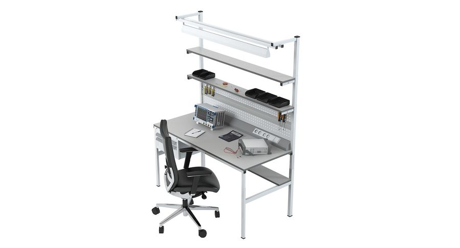 Electronics Workbench royalty-free 3d model - Preview no. 6