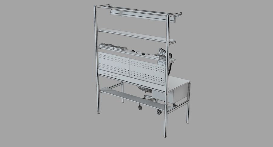 Electronics Workbench royalty-free 3d model - Preview no. 11