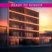 Building Facade FIRMAT 3d model