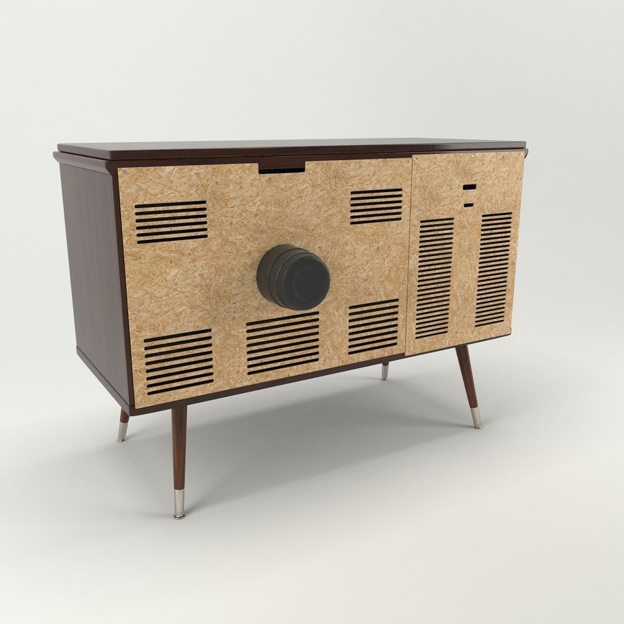Vintage Olympic TV Console royalty-free 3d model - Preview no. 7