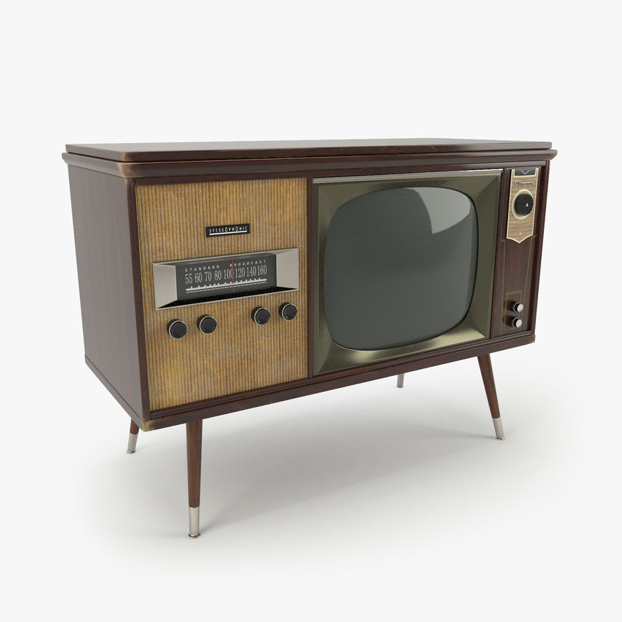 Vintage Olympic TV Console royalty-free 3d model - Preview no. 1