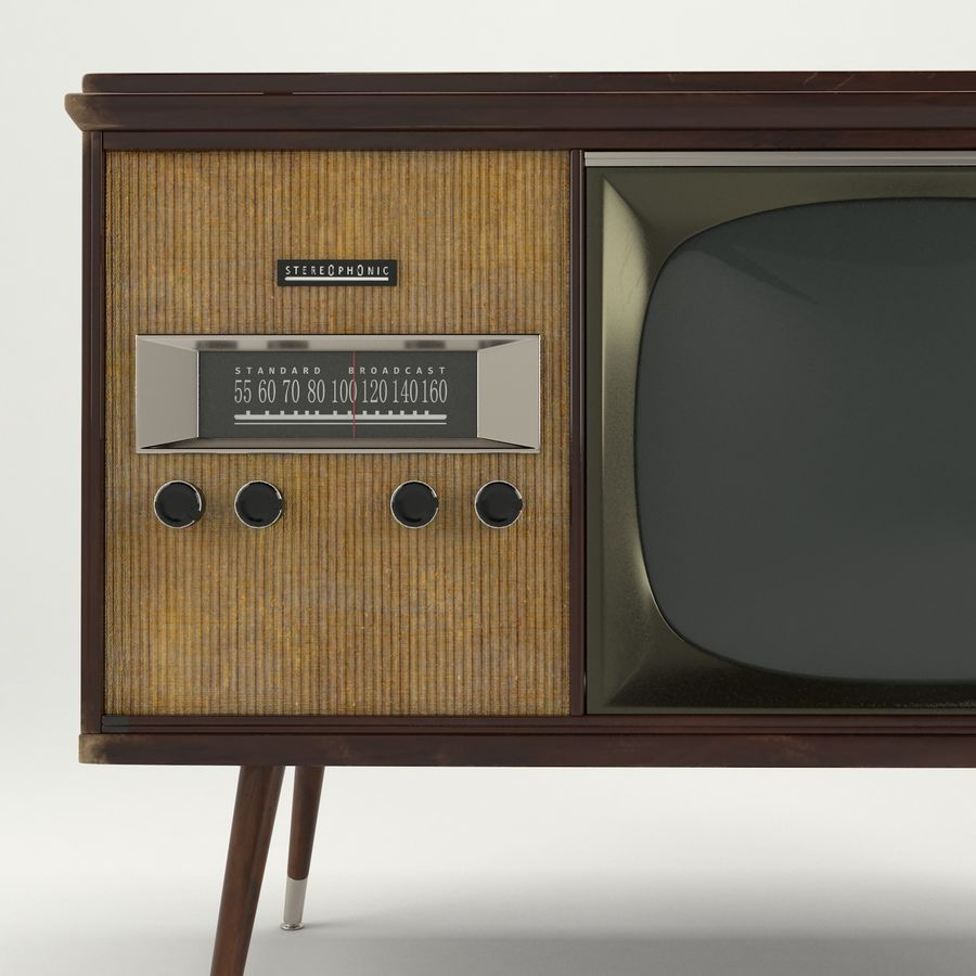 Vintage Olympic TV Console royalty-free 3d model - Preview no. 8