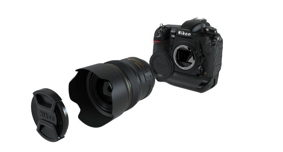 Nikon D5 Digital SLR Camera royalty-free 3d model - Preview no. 14