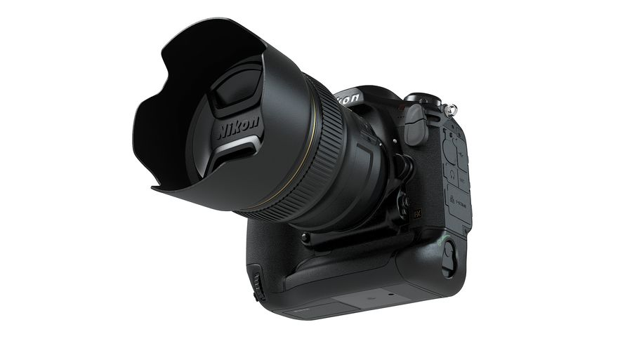 Nikon D5 Digital SLR Camera royalty-free 3d model - Preview no. 10