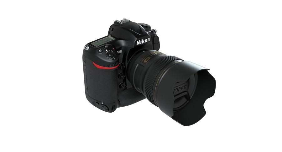 Nikon D5 Digital SLR Camera royalty-free 3d model - Preview no. 4