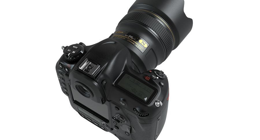 Nikon D5 Digital SLR Camera royalty-free 3d model - Preview no. 8