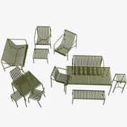 palissade dış mekan mobilyaları 3d model