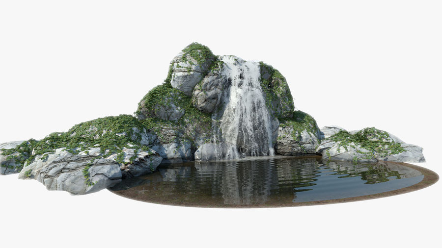 Vattenfall Animerad royalty-free 3d model - Preview no. 3