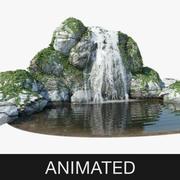 Анимированный водопад 3d model