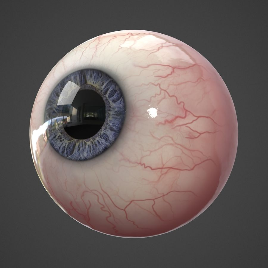 Oeil humain réaliste royalty-free 3d model - Preview no. 3