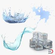 Wasser Sammlung 3d model