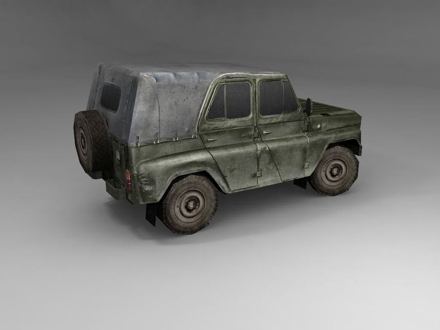 Laag poly Uaz-469 royalty-free 3d model - Preview no. 6