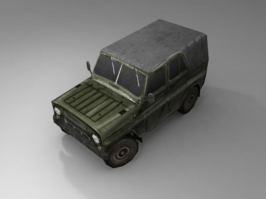 Laag poly Uaz-469 royalty-free 3d model - Preview no. 5