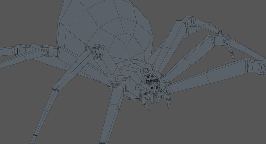 Black Widow Spider royalty-free 3d model - Preview no. 15