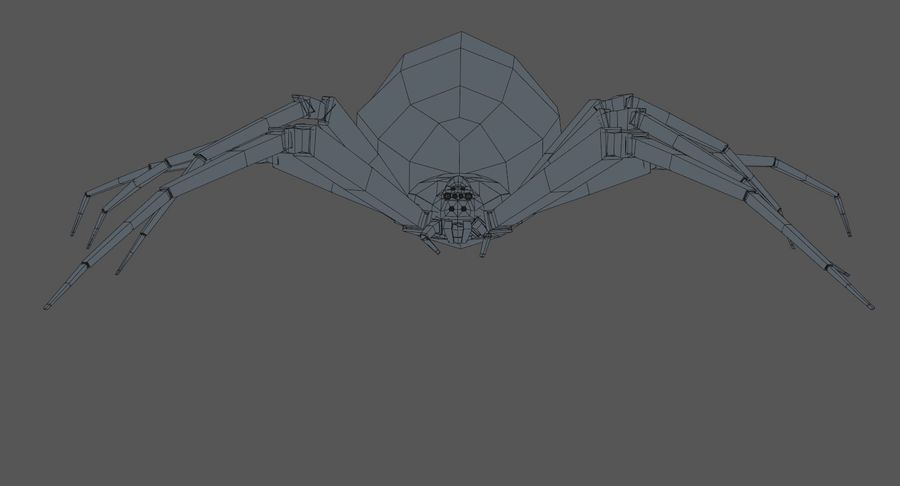 Black Widow Spider royalty-free 3d model - Preview no. 16