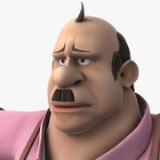 Hombre gordo de fantasía modelo 3d