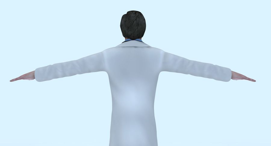 Doctor royalty-free 3d model - Preview no. 17