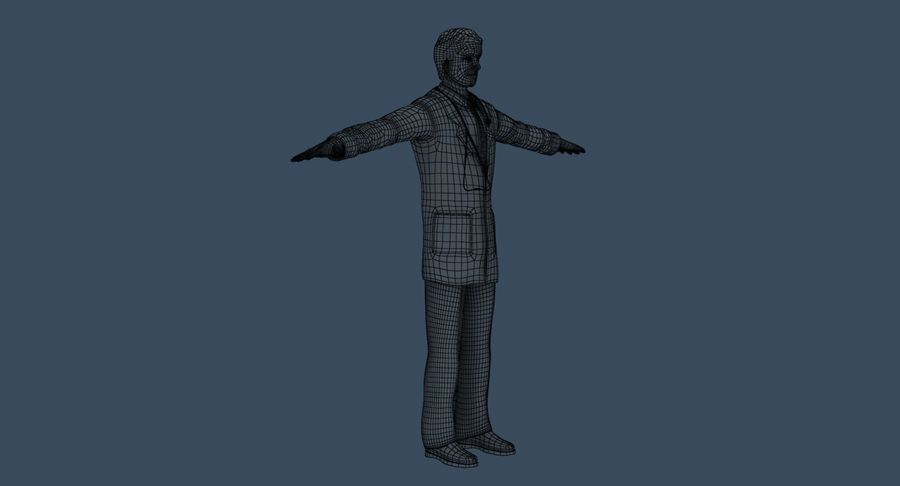 Doctor royalty-free 3d model - Preview no. 36