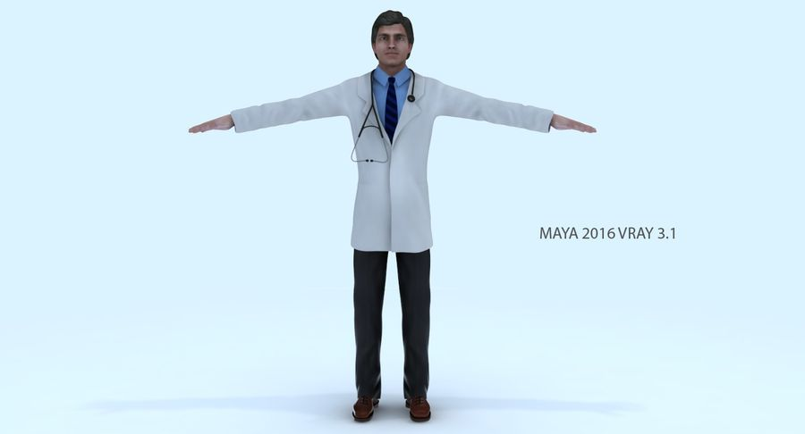 Doctor royalty-free 3d model - Preview no. 4