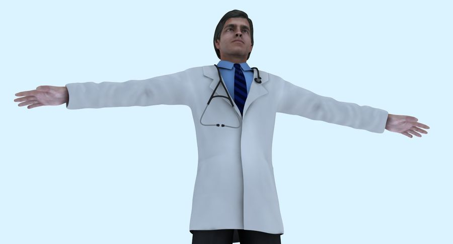 Doctor royalty-free 3d model - Preview no. 22