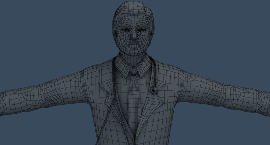 Doctor royalty-free 3d model - Preview no. 43