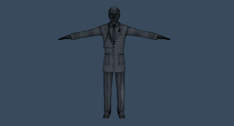 Doctor royalty-free 3d model - Preview no. 31