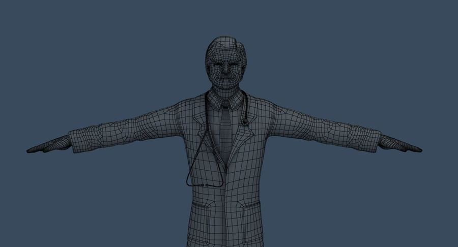 Doctor royalty-free 3d model - Preview no. 37