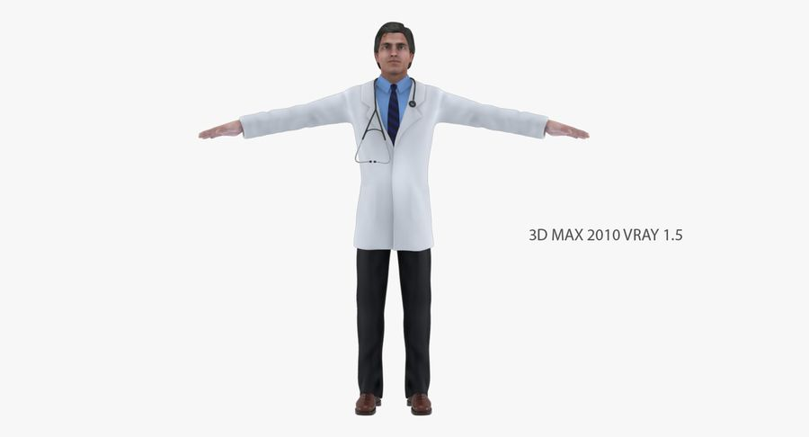 Doctor royalty-free 3d model - Preview no. 6